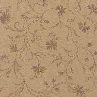 Classic Florals Parterre Honey Wool Carpet Swatch