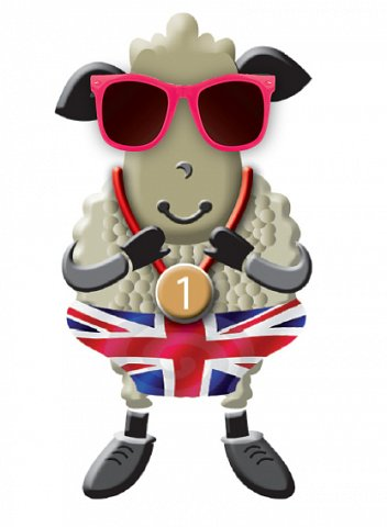 Curt the sheep with sunglasses - It's cool to choose wool!
