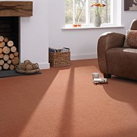 Glenshee burnt orange wool carpet