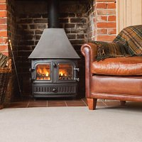 Summer Garden fire and wool carpet
